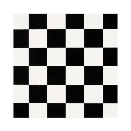 Koberec PVC koberec|šachovnici| black a white|200x300cm