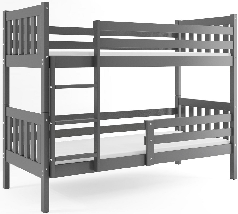 Łóżko piętrowe Carino 200x90 dziecięce i MATERACE