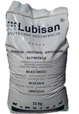 LUBISAN 25 kg suchej dezinfekcia hydiny, sliepky, morky