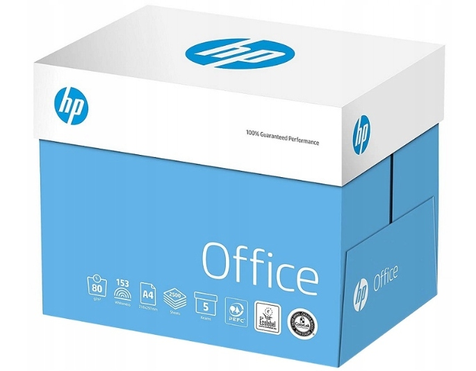 Item Paper copier HP Office A4 80g in box 5 packs