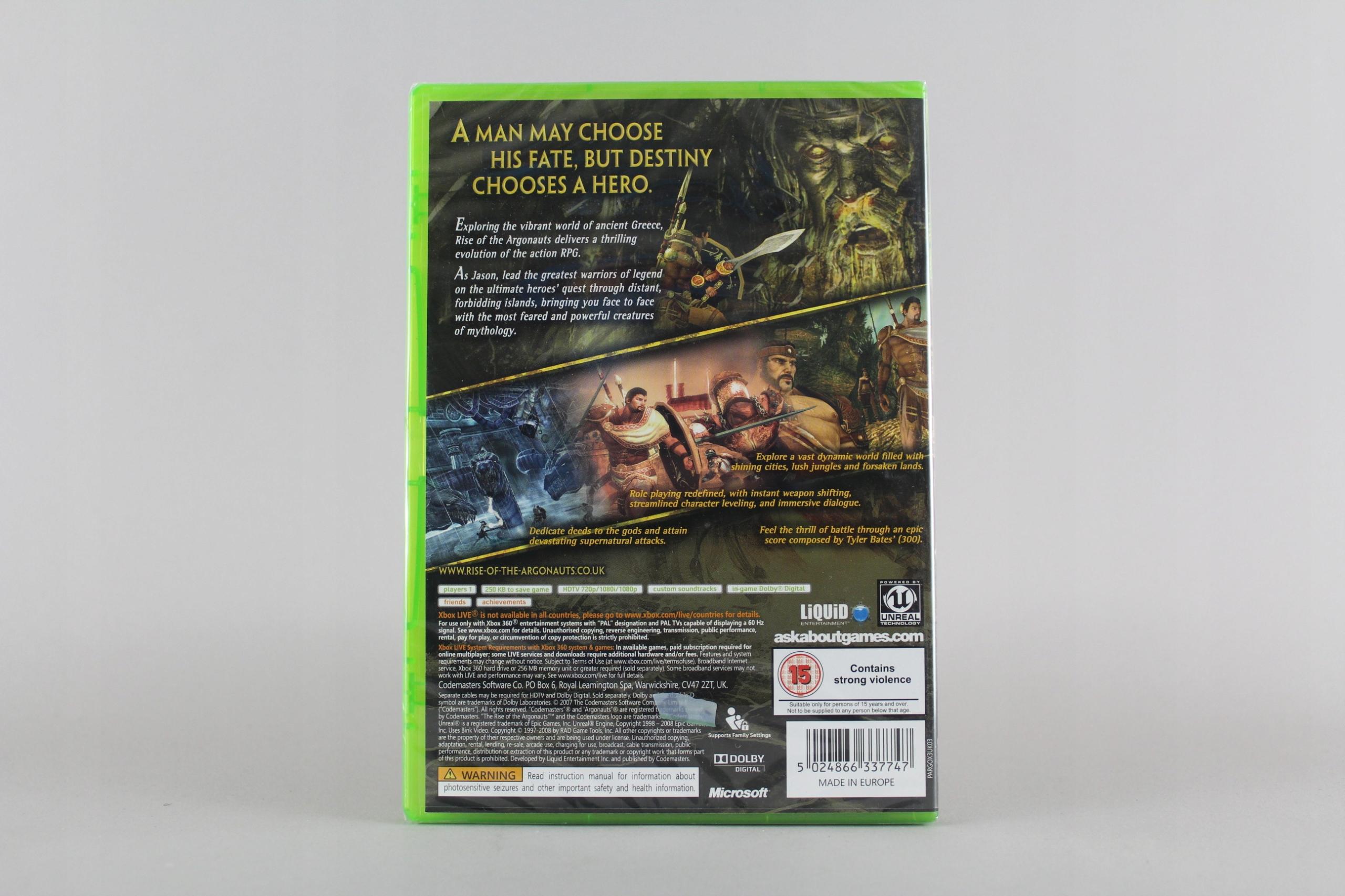 Купить RISE OF THE АРГОНАВТОВ НОВАЯ ПЛЕНКА XBOX360 на Otpravka - цены и фото - доставка из Польши и стран Европы в Украину.