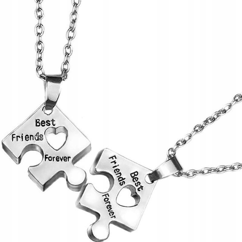 Naszyjnik Przyjazni Wisiorek Best Friends Serce X2 8891990710 Allegro Pl