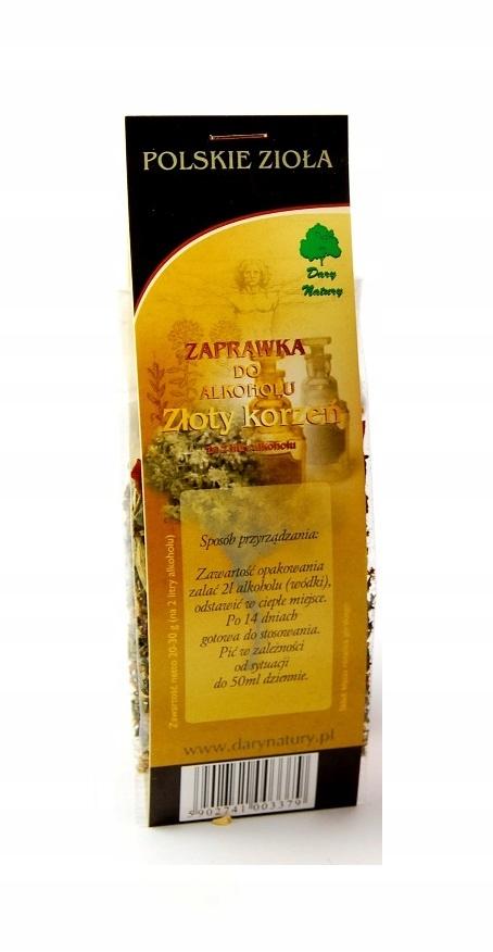 ZŁOTY KORZEŃ zaprawka do alkoholu zioła bimber -2L
