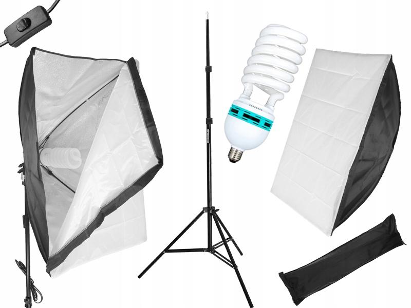 Item KIT STUDIO SOFTBOX 50x70 TRIPOD LAMP bulbs 325 WATTS
