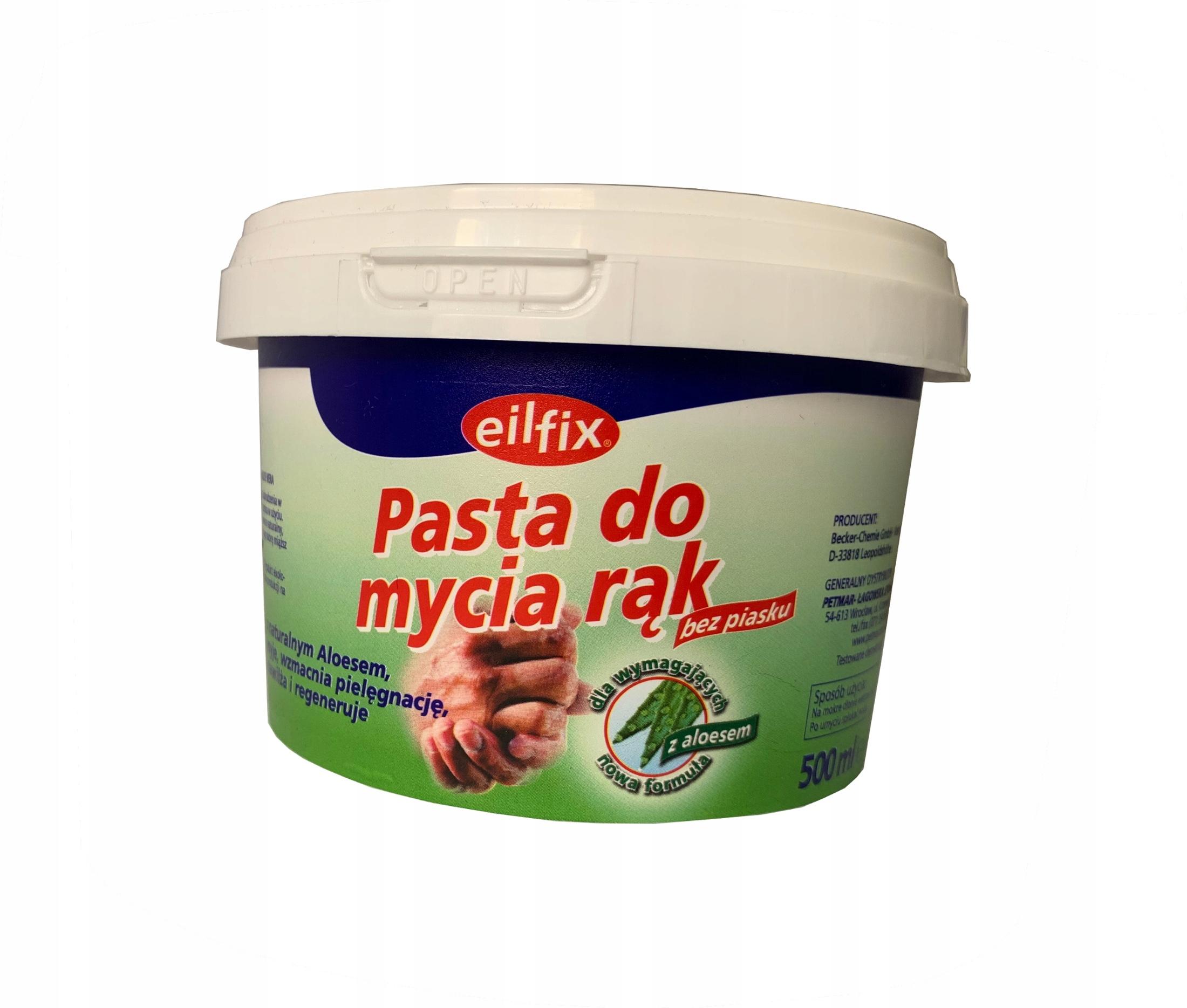 Pasta BHP do mycia rąk z aloesem Eilfix 500 ml