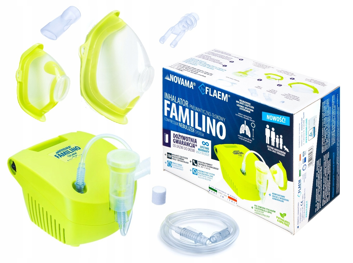 Inhalator nebulizator tłokowy NOVAMA FAMILINO