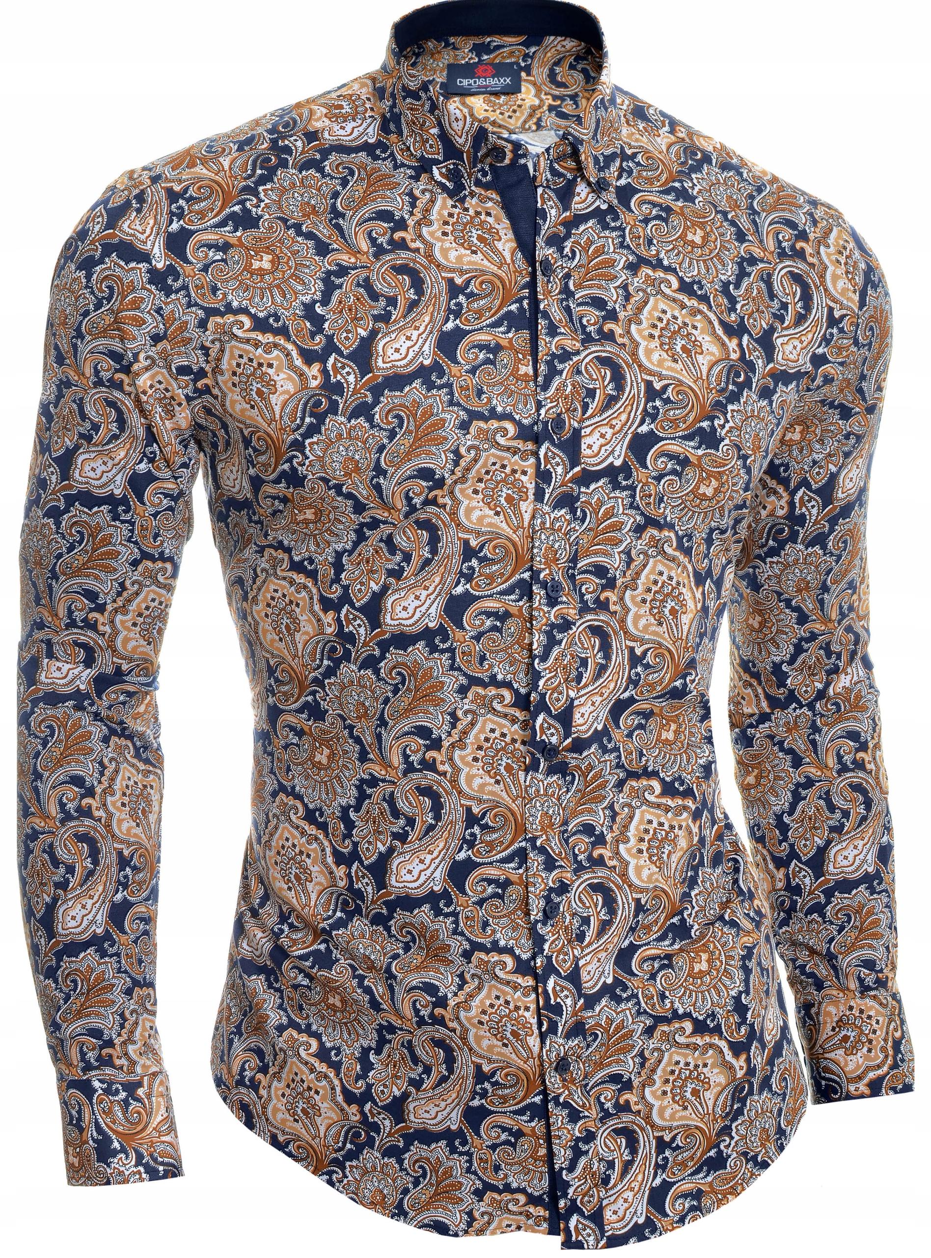 Koszula Męska Cipo Baxx Casual Elegancka NOWOŚĆ 7801908877  pEfn1
