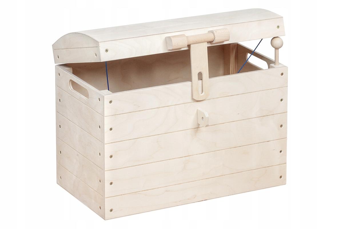 BOX dekoratívne Pirát Drevená HRAČKA box