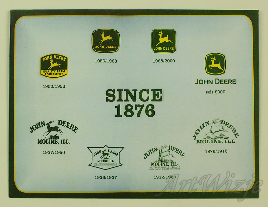 John Deere podpísať plagát, reklama traktor retro
