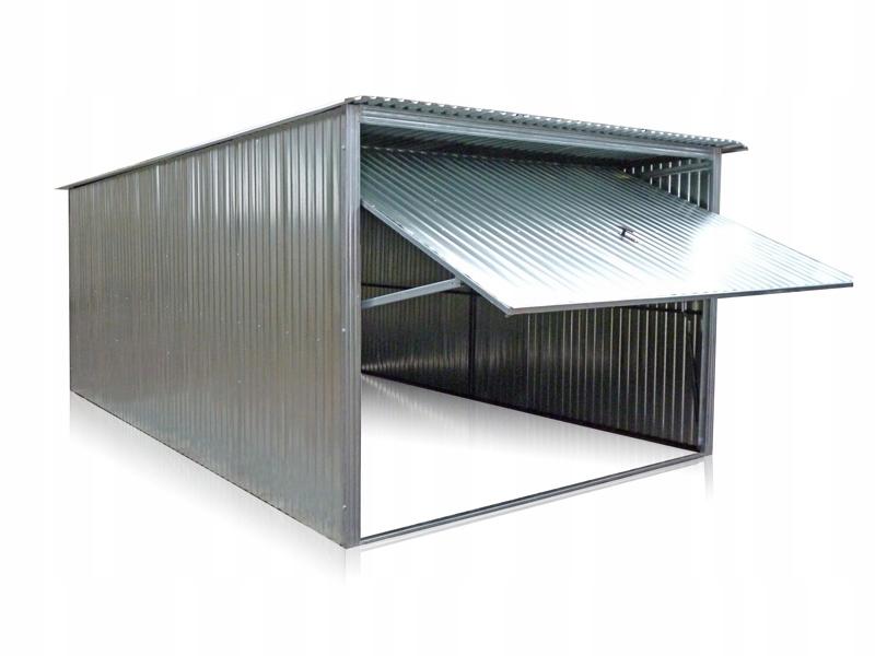 Garaże blaszane blaszak 3x6 garaż z bramą uchylną