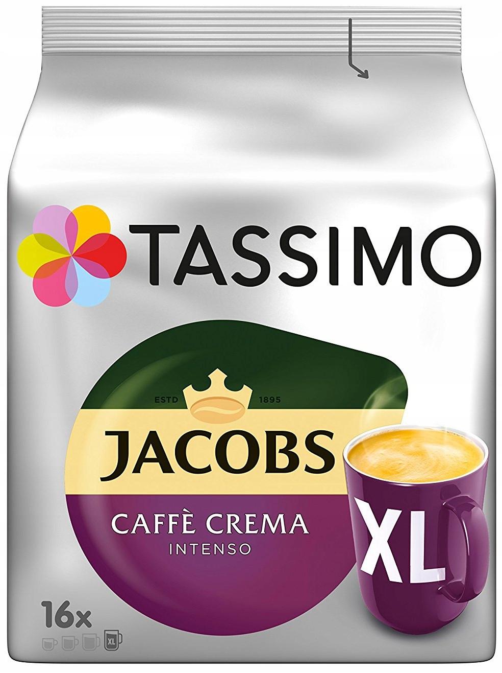 капсулы TASSIMO ДЖЕЙКОБС Caffe Crema Intenso XL 16