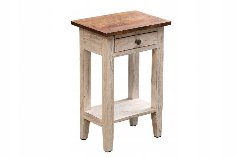 Nočný stolík La Fleur, drevo, retro