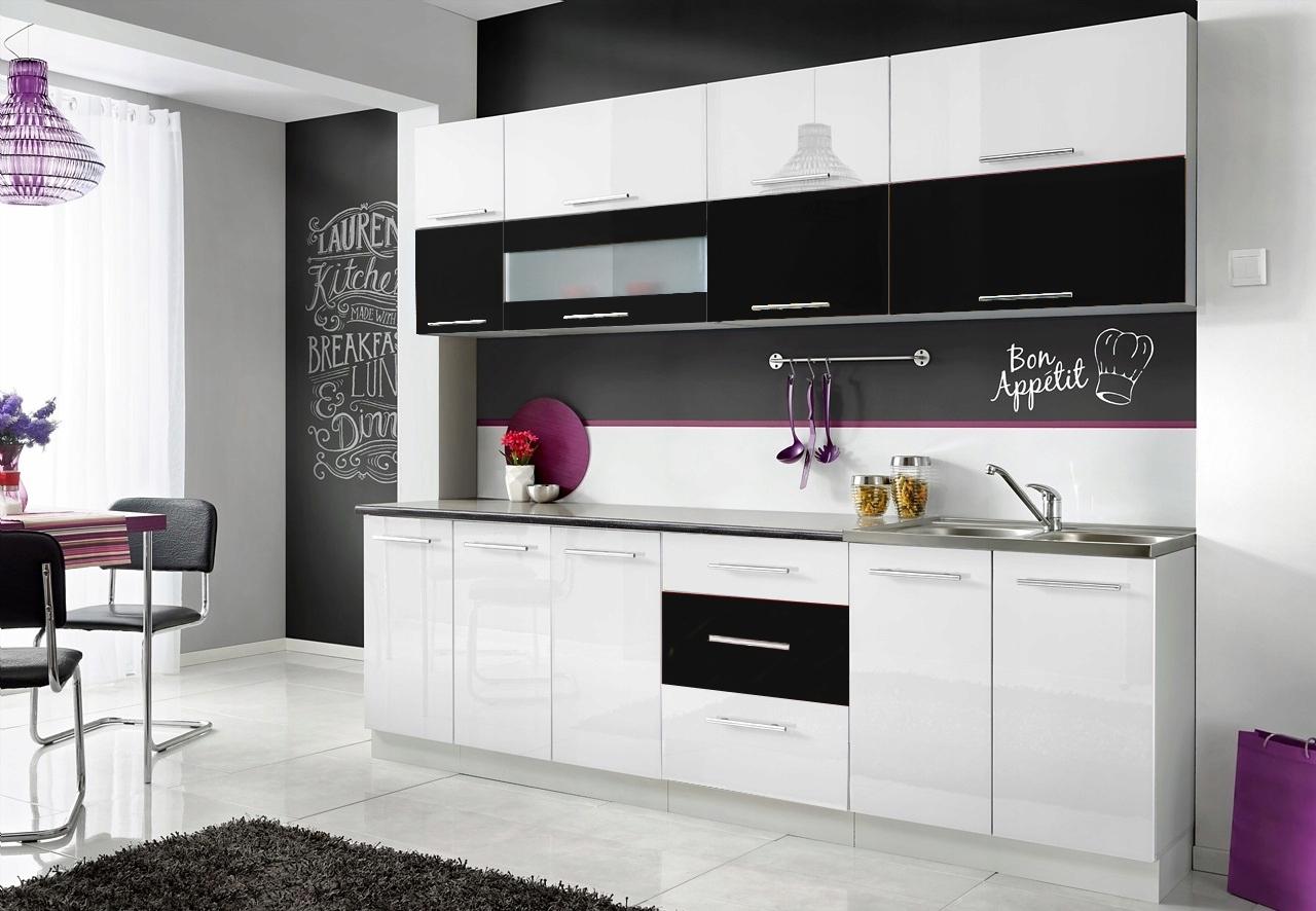 Купить Кухонная мебель МОНИКА N БЕЛЫЙ + ЧЕРНЫЙ 2,6 М на Otpravka - цены и фото - доставка из Польши и стран Европы в Украину.