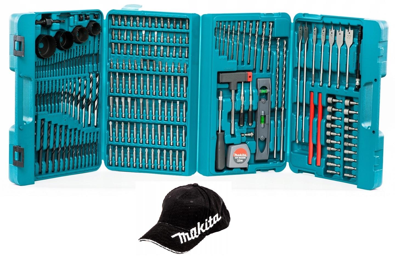 комплект Makita Сверла биты открыватели 216pc +шапка