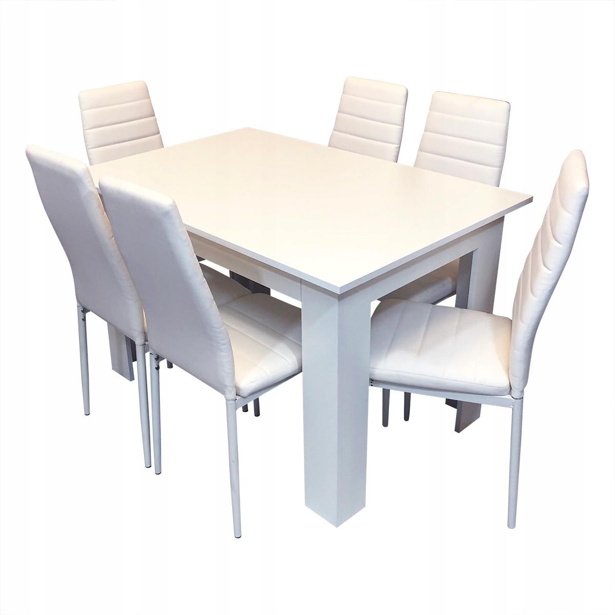комплект стол 6 стульев Ницца, Милан белое Салон