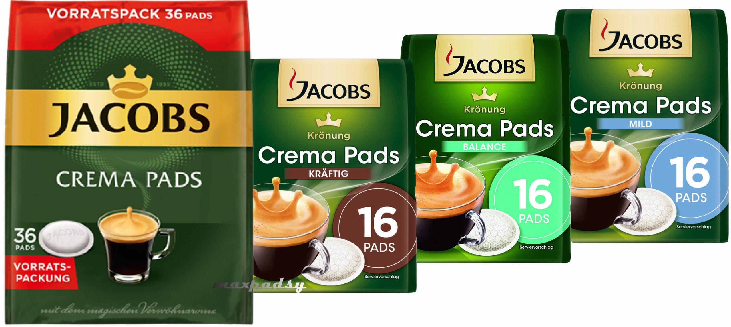 Senseo káva Jacobs Kronung Crema 84 podložky AUTA