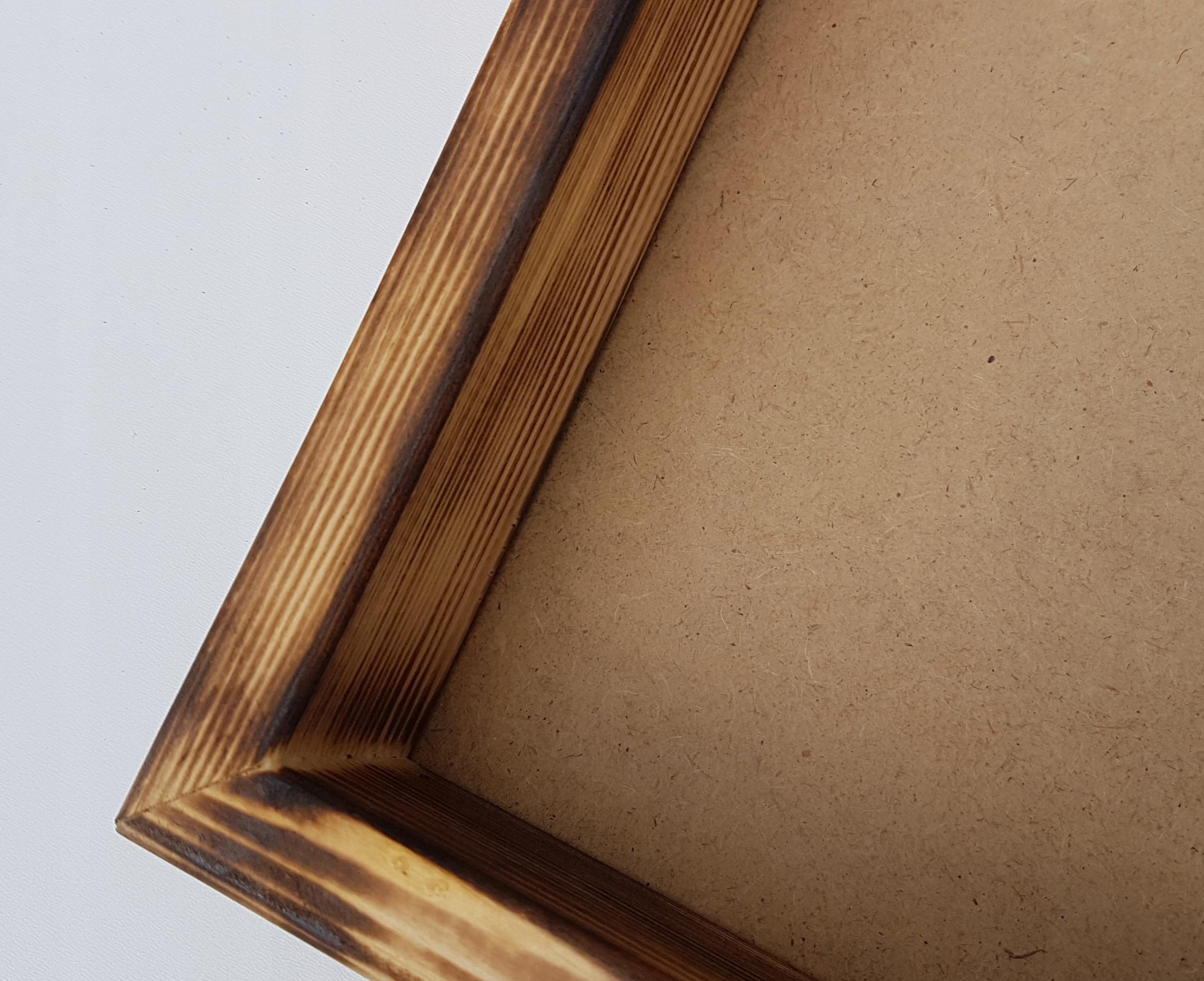 Деревянные шкатулки под фоторамку из мха 40х90