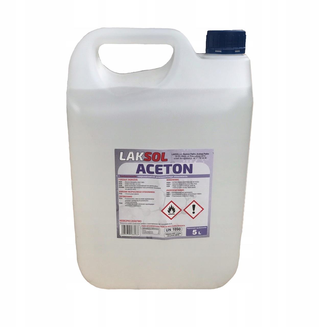 ACETON 5 L techniczny rozpuszczalnik zmywacz