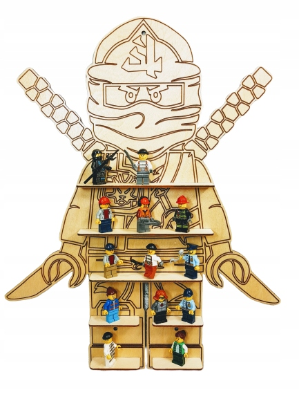 Policová knižnica na LEGO NINJAGO figúrky LL