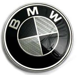 ЭМБЛЕМА ЗНАКА ЛОГОТИПА BMW 82MM CARBON BLACK