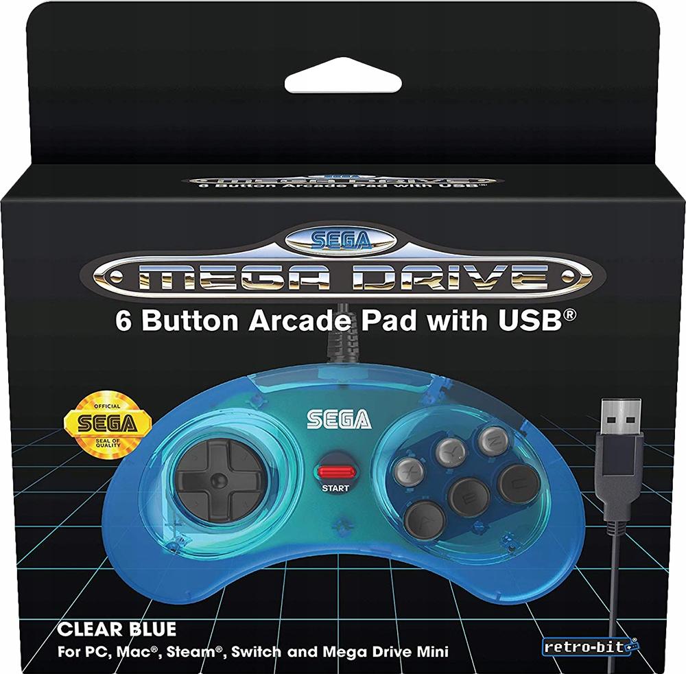Oficiálny mini USB disk SEGA Mega Drive, modrý, PC PC PS3