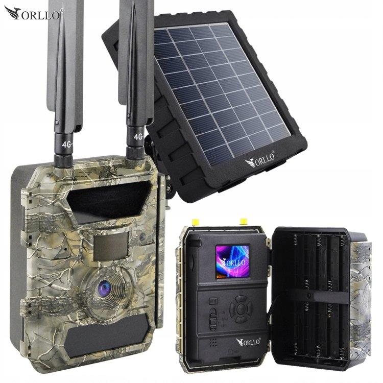 Fotopułapka Kamera Leśna SIM GSM GPS+Panel Solarny