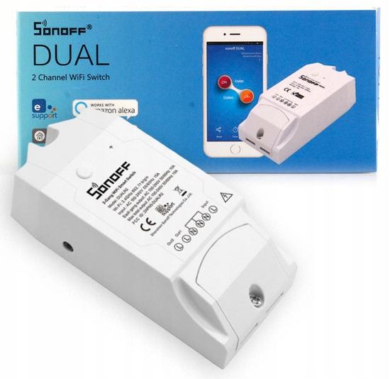 Sonoff Dual Przełącznik WiFi 2 kanały obwody
