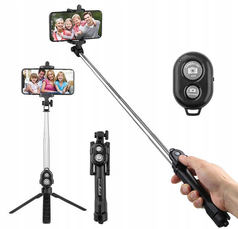Item Stick tripod selfie stick tripod bluetooth remote control