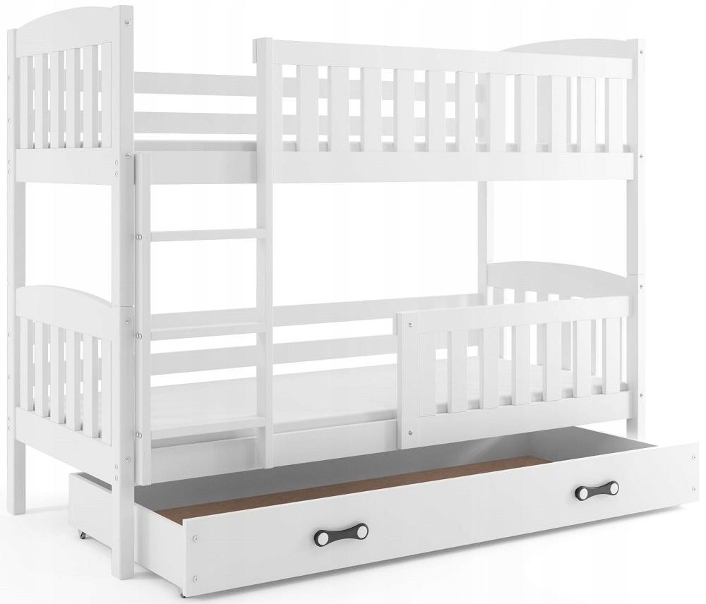 Łóżko piętrowe dziecięce Kubuś 190x80 dla dzieci