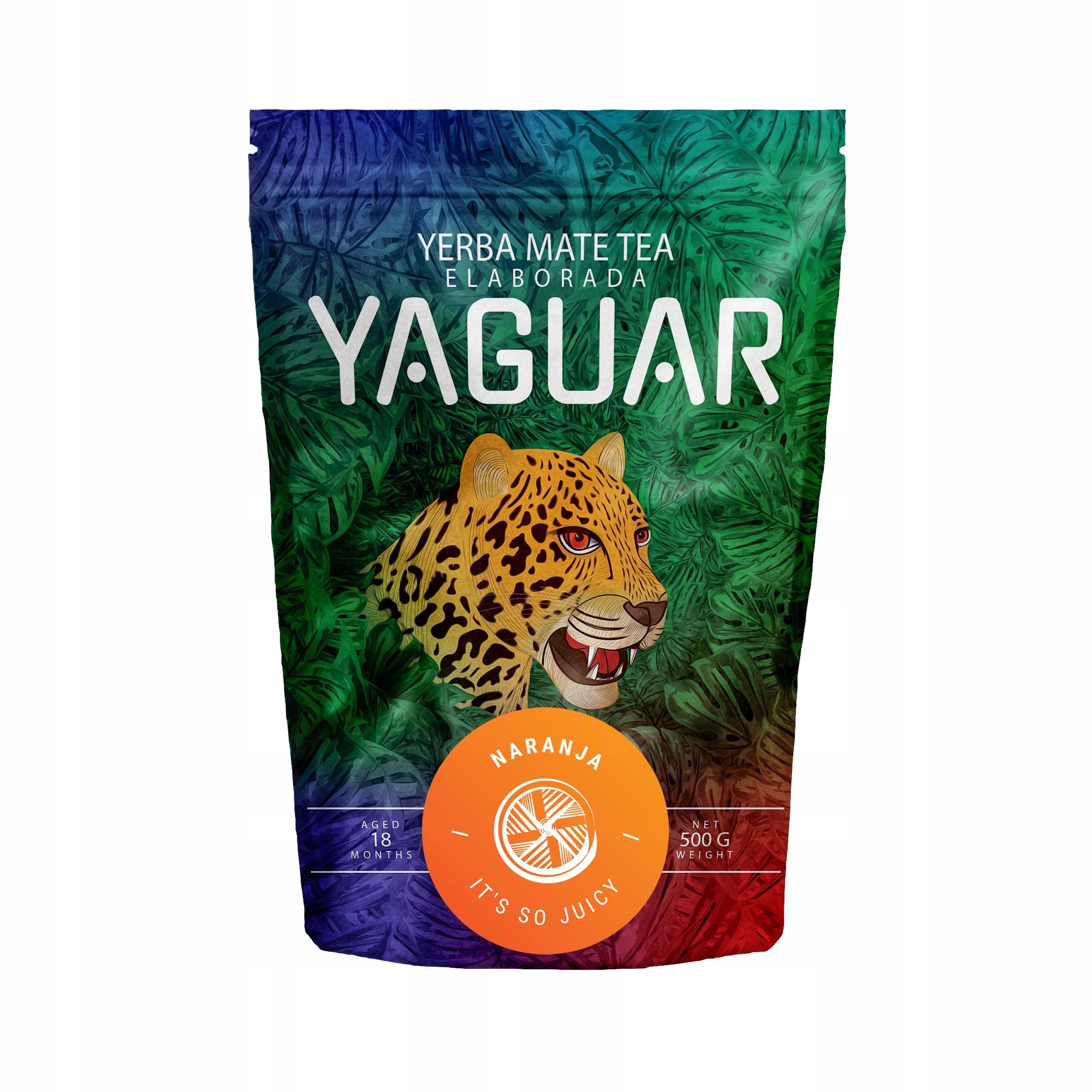 Item Yerba Mate Yaguar Naranja Orange 0.5 kg 500g