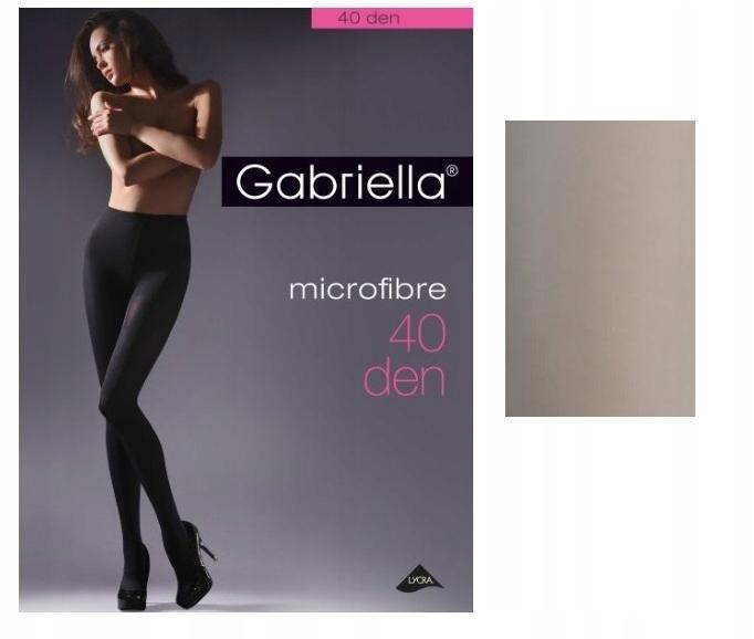 Gabriella rajstopy microfibre den 40 Grey 2