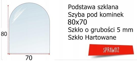 SZYBA HARTOWANA BLACHA PODSTAWA POD PIEC KOMINEK Waga (z opakowaniem) 3 kg