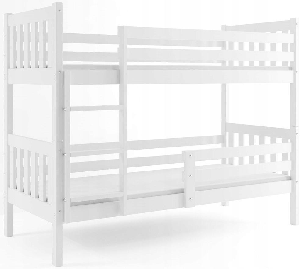 Łóżko piętrowe dla dzieci CARINO i materac 200x90