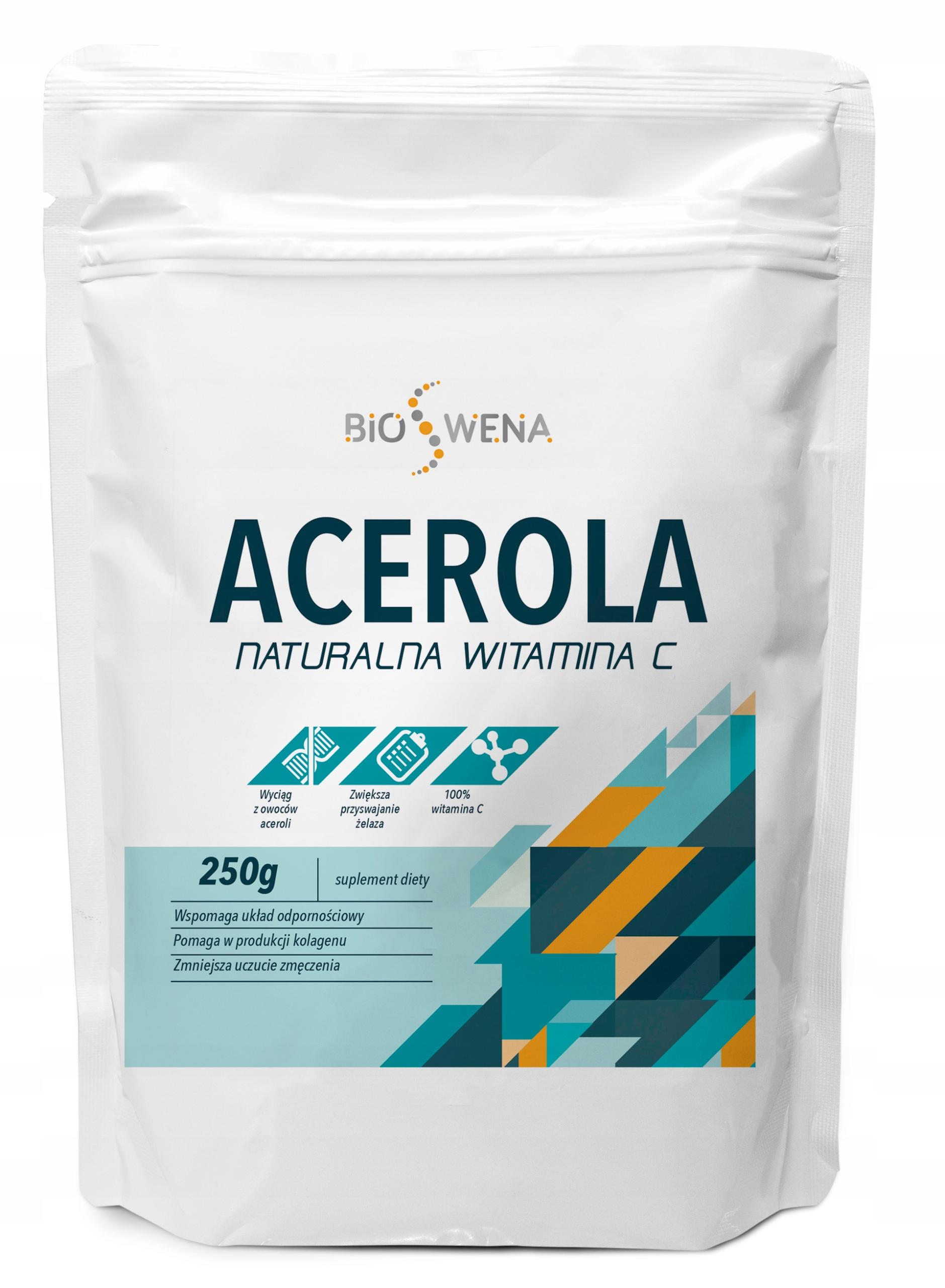 ACEROLA PROSZEK 250g NATURALNA WITAMINA C VEGE BIO