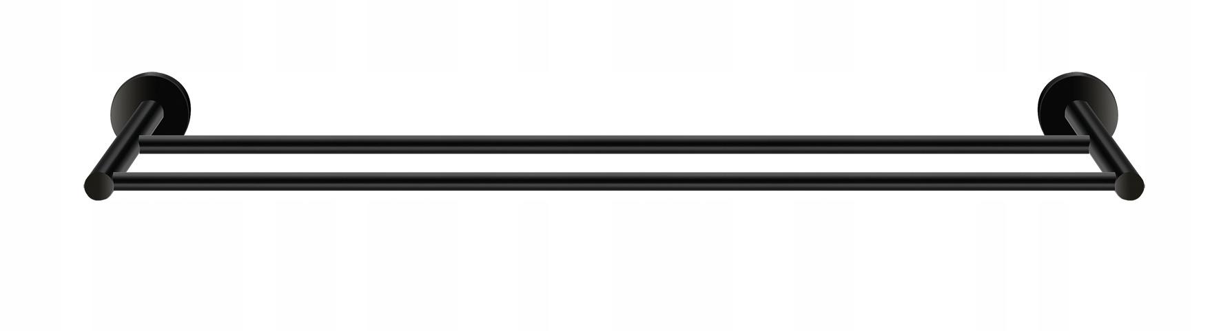 TWIST matné čierne dvojité zábradlie