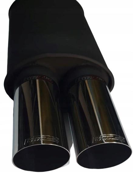 глушитель спортивный круглый 2 x 80 мм сквозное