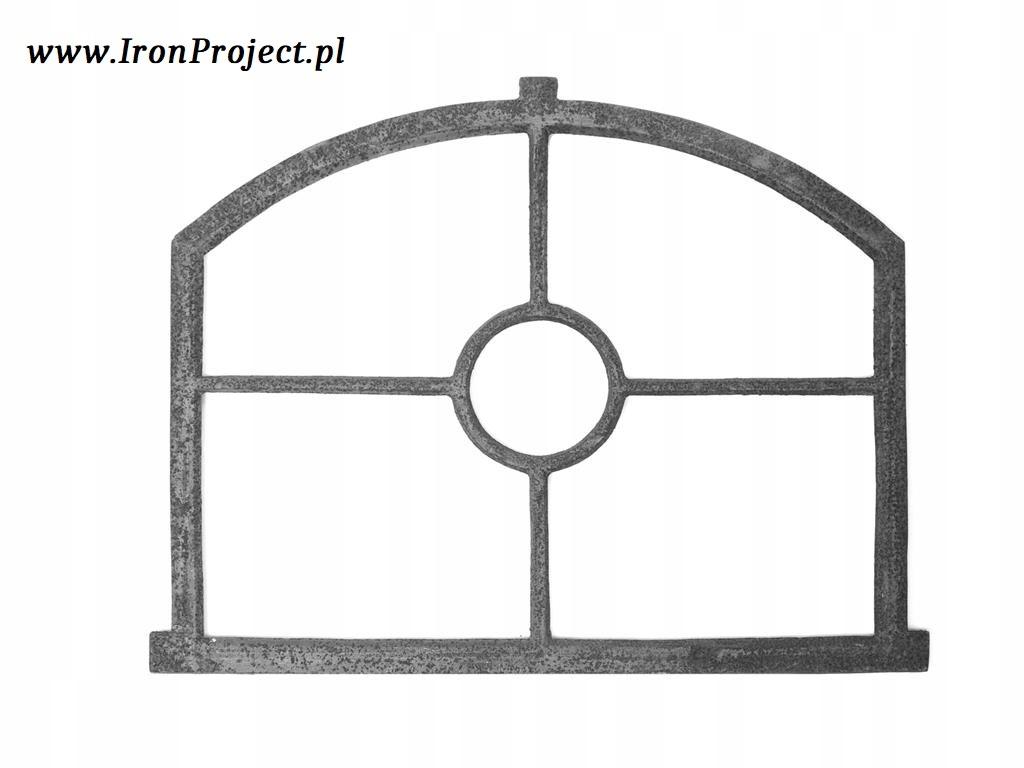 NOVÉ okno liatiny retro veľké polkruhová 70x55cm