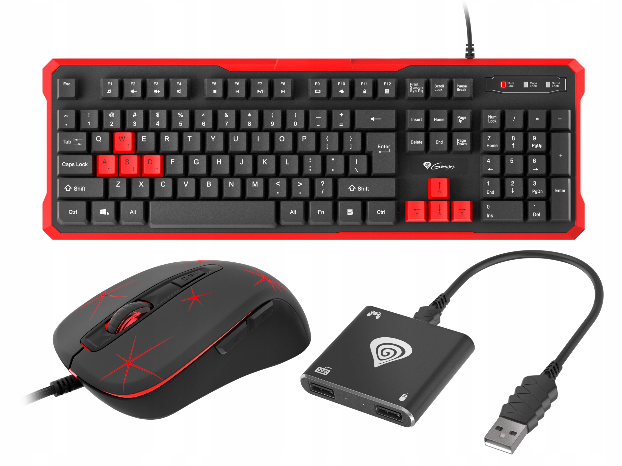 Item Keyboard and mouse for PS4 + Adapter Tin 200 Genesis