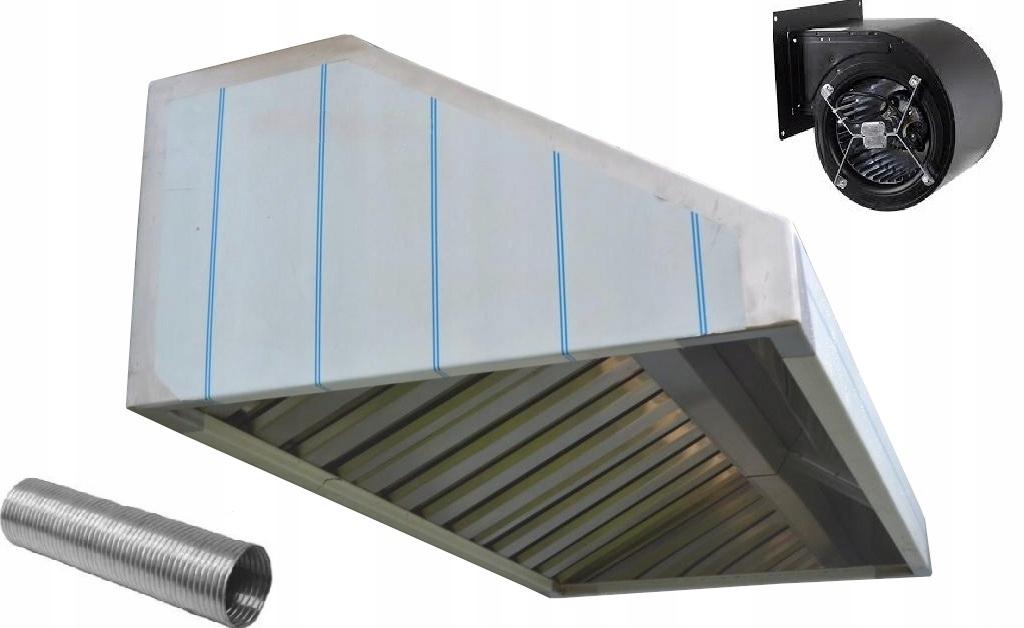 Okap Gastronomiczny 150x70x40 Filtry Turbina