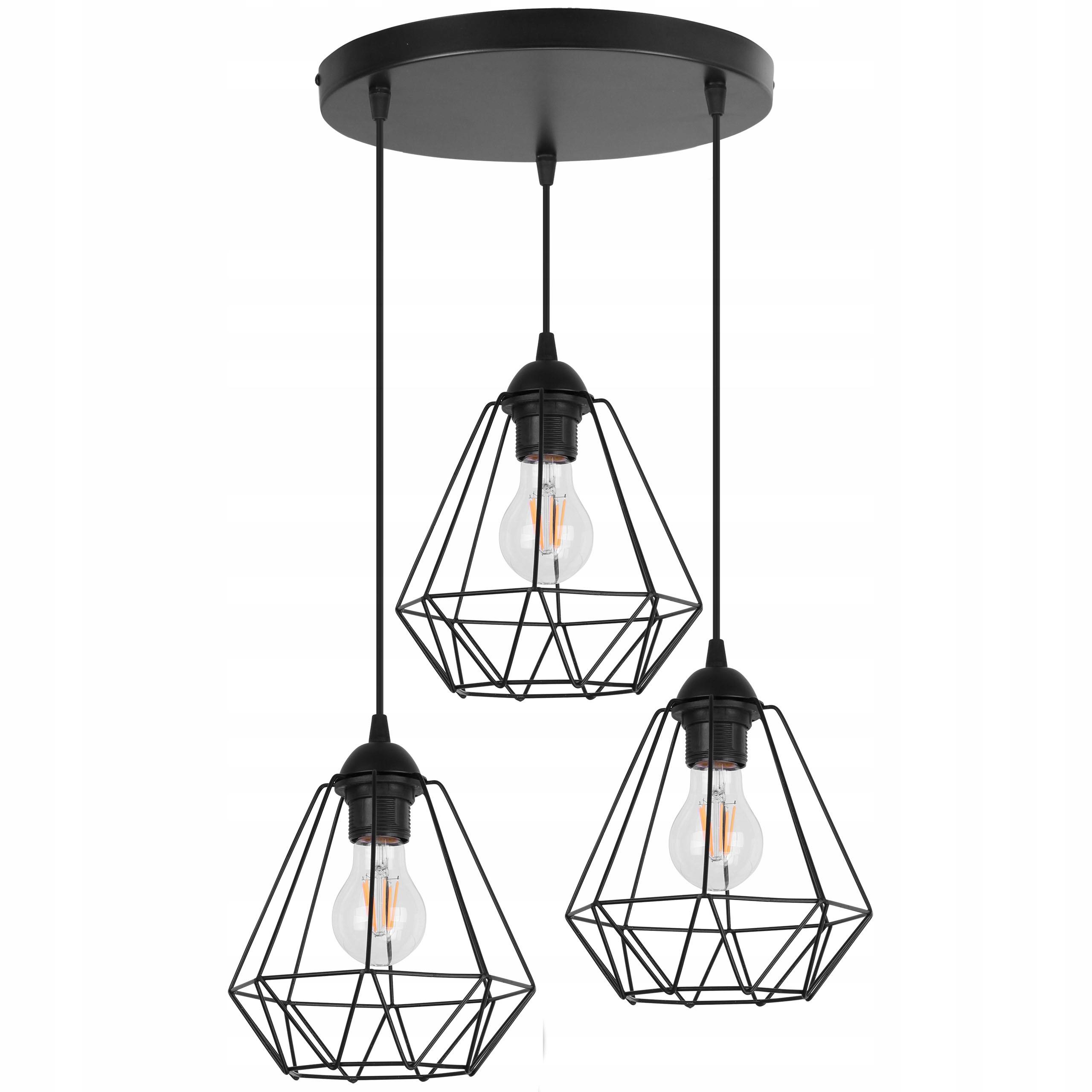 STROPNÉ SVIETIDLÁ PRÍVESOK DIAMOND LAMPA LOFT EDISON RETRO