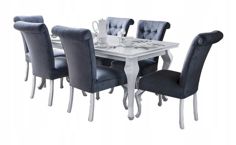 Стол 200/300, 8 x стульев LUDWIK gloss