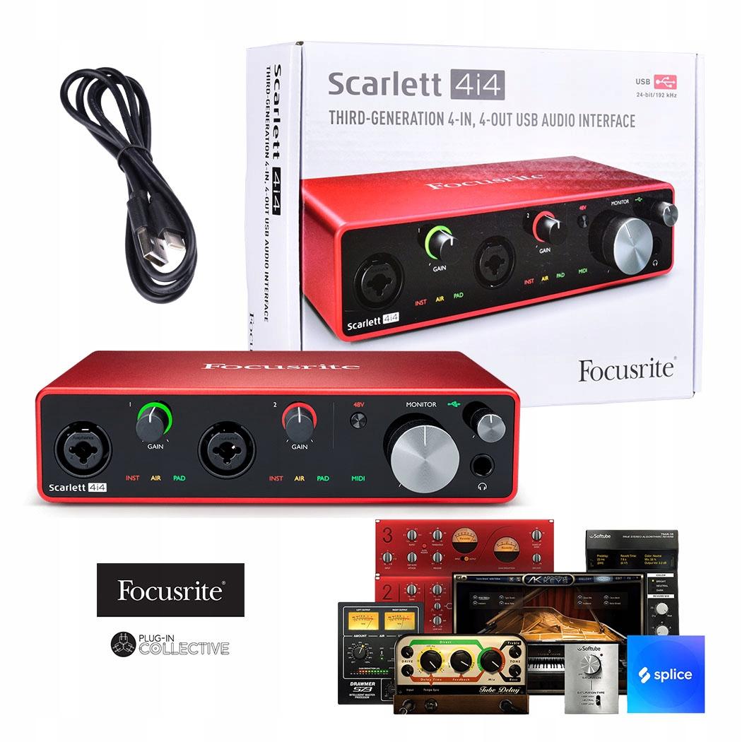 Item FOCUSRITE SCARLETT 4 and 4 3rd generation sound card