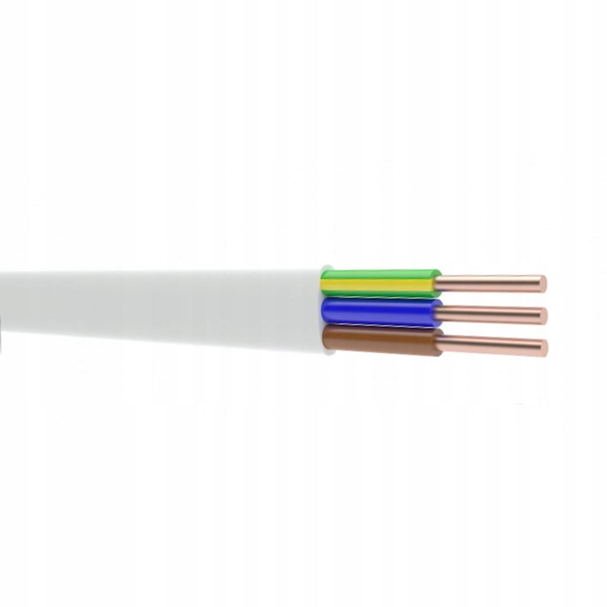 Przewód YDYp 3x2,5 750V płaski POLSKI 1mb