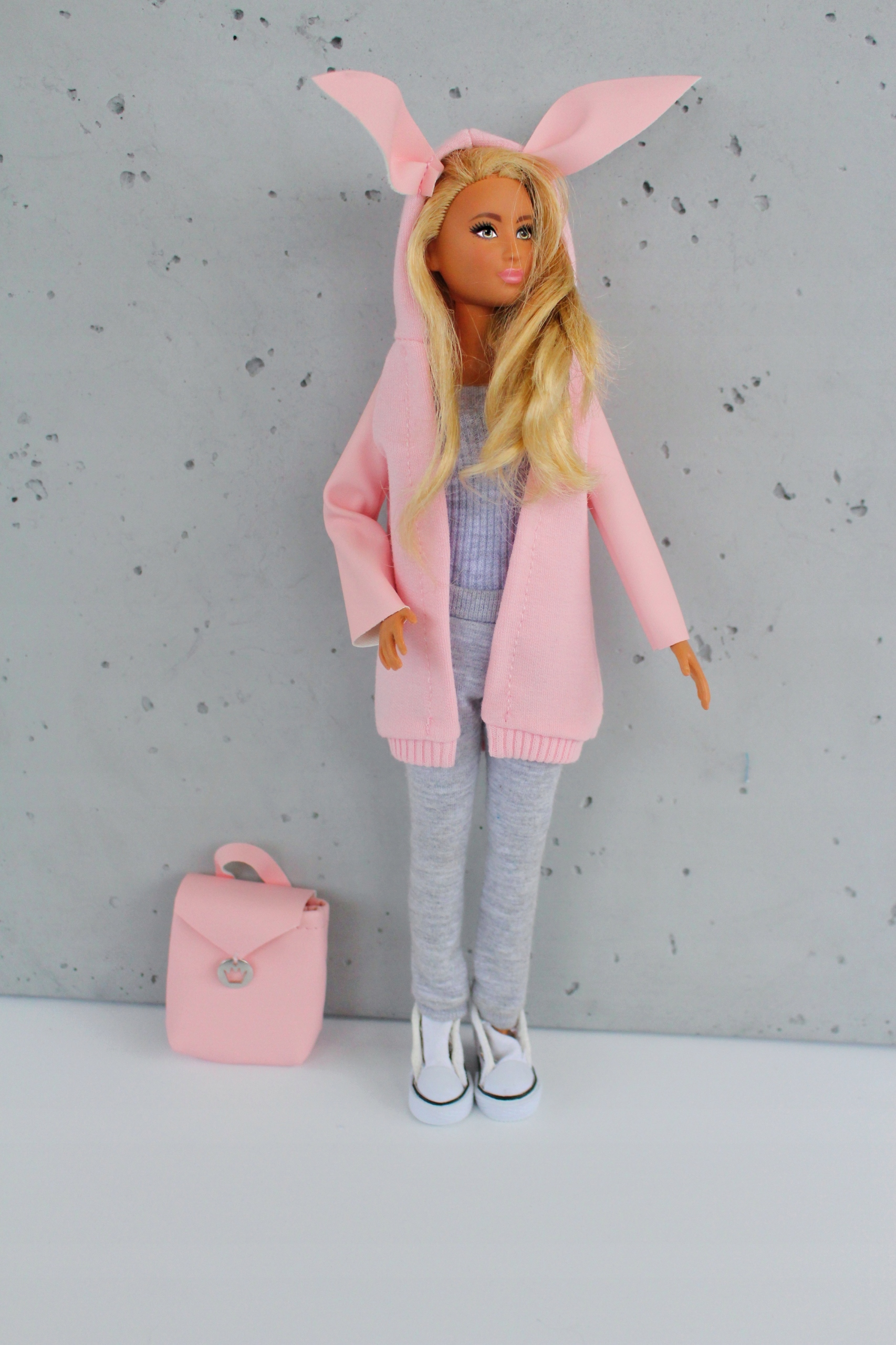 Oblečenie pre bábiku, kabát a nohavice pre bábiku
