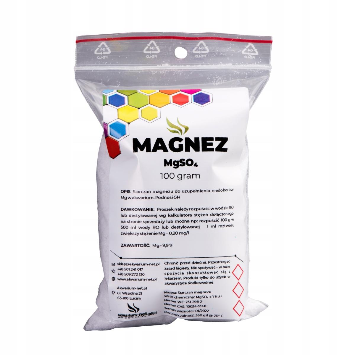 МАГНИЙ - MgSO4 x 7 H2O 100 г (ЧИСТЫЙ ДЛЯ 99,9%)