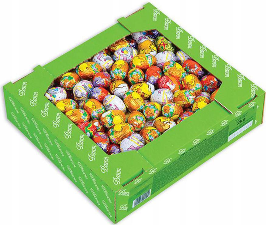 Čokoládové vajíčka na veľkú noc, BARON - 2 kg