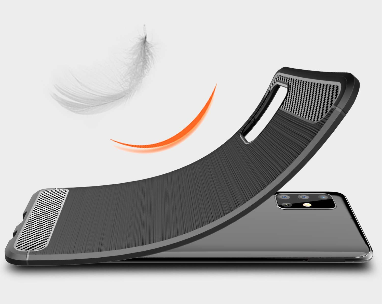 ETUI do Samsung Galaxy M51 KARBON PANCERNE + SZKŁO Przeznaczenie Samsung