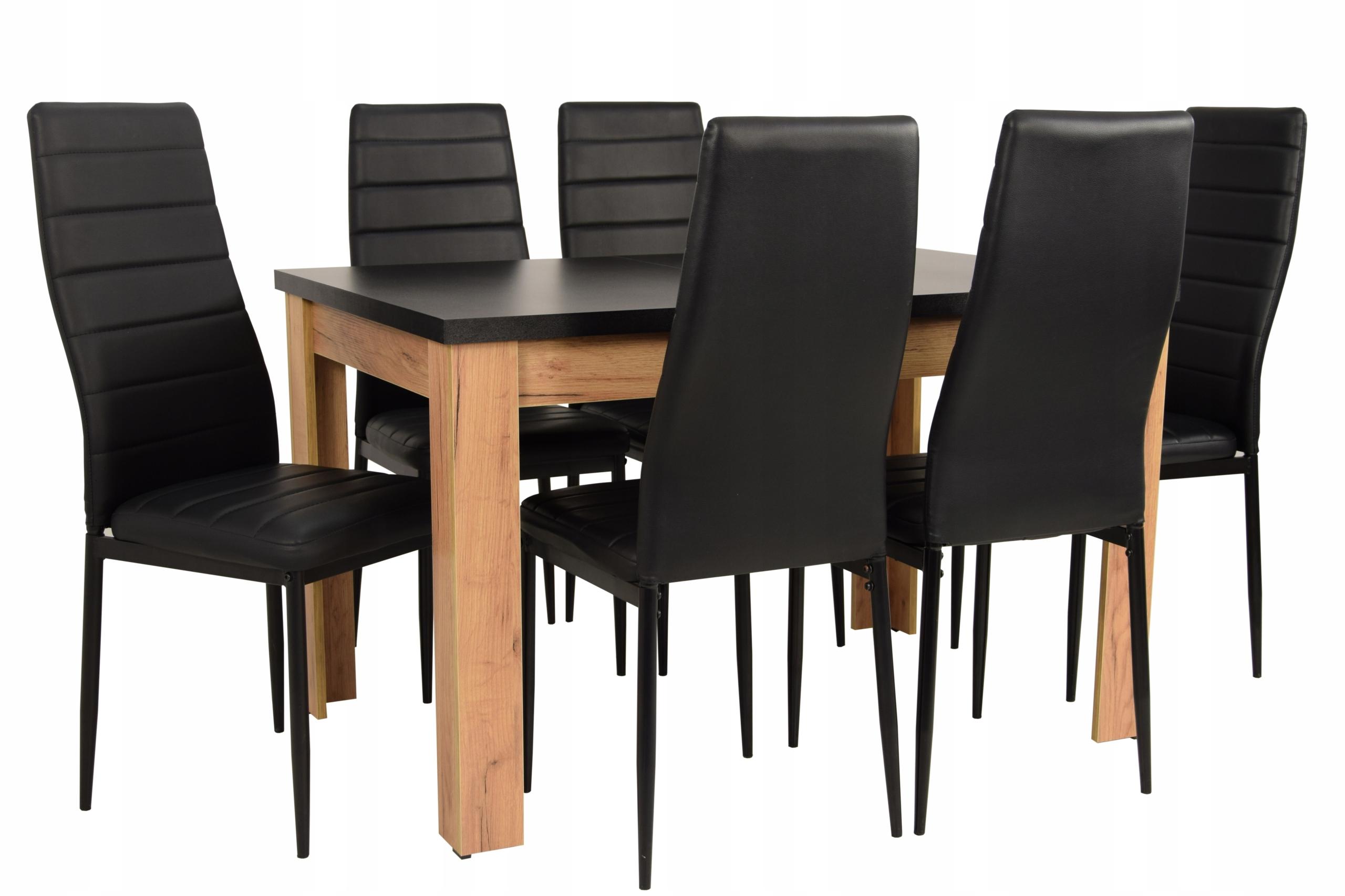 современный комплект Черный ??? стол 120 6 стулья
