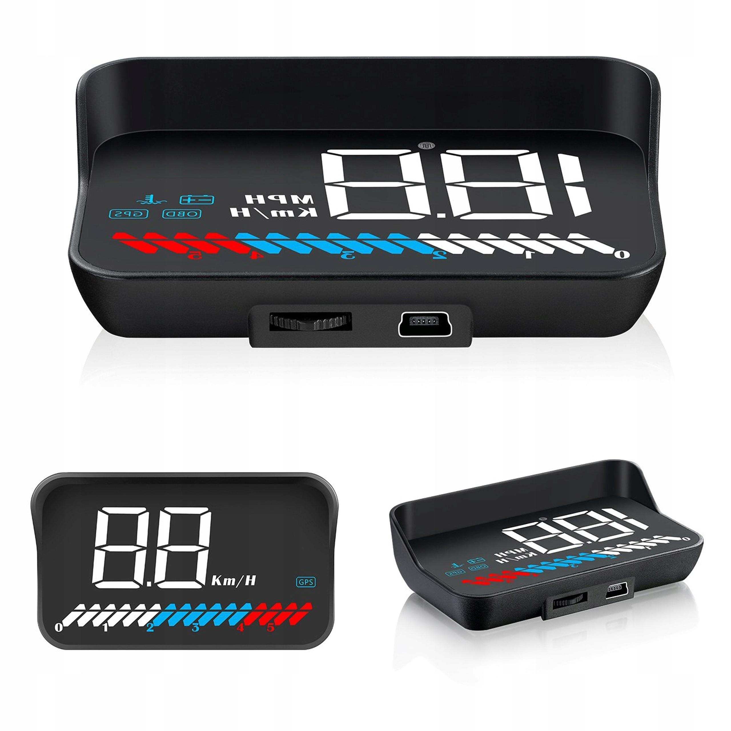 LCD HUD ПРОЕКТОР ДИСПЛЕЙ OBD2 GPS USB M7