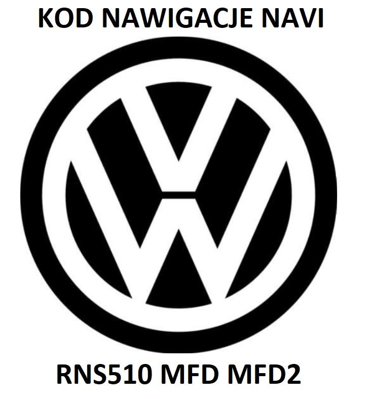генератор радио vw код navi rns510 mfd mfd2
